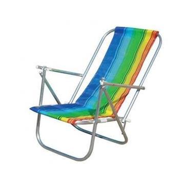Cadeira De Praia 2 Posições Alumínio Cad0041 Botafogo