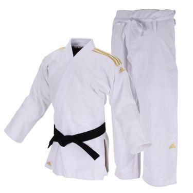 Kimono JudôJ690 Quest Branco Com Faixas Douradas 180 Adidas