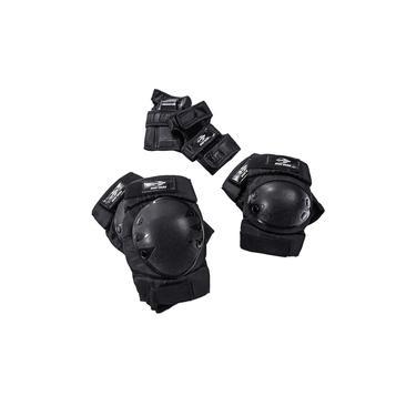 Kit de Proteção Esportivo Mormaii Skate Patins e Esportes Radicais Preto Bel Fix