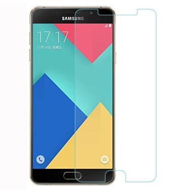 [2 pacotes] Película protetora de tela para Samsung Galaxy A7 (2016), vidro temperado transparente, protetor de tela resistente a arranhões para Samsung Galaxy A7 (2016) SM-A710 [não serve para Galaxy A7 SM-A700]