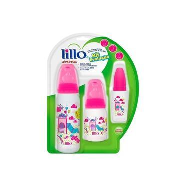 Imagem de Kit de Mamadeiras Evolução Divertida Rosa 3 Unidades - Lillo
