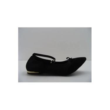 Sapatilha Bebece Fechada Bico Fino Confort Cordinha T2016-235