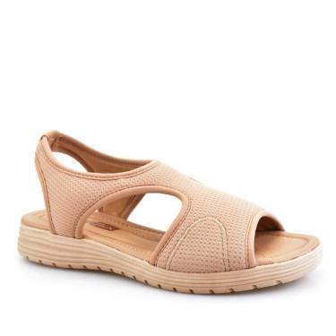 Sandália Slide Feminina Ultra Conforto Recorte Comfort Flex 51404  Comfortflex Nude  feminino