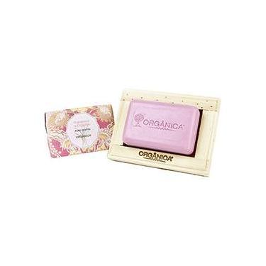 Sabonete Puro Vegetal Framboesa e Orquídea 90g - Orgânica Rosa