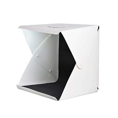 Mobestech Caixa de luz de fotografia grande de 40 cm portátil com 4 cores de fundo estúdio fotográfico LED iluminação tenda cubo