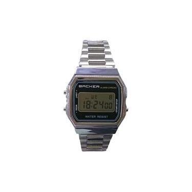 30719396a03 Relógio Masculino Backer Digital 15001453F - Prata