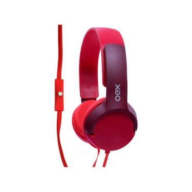 Imagem de Headphone Infantil Oex Kids Hp303 Teen - Com Microfone Vermelho