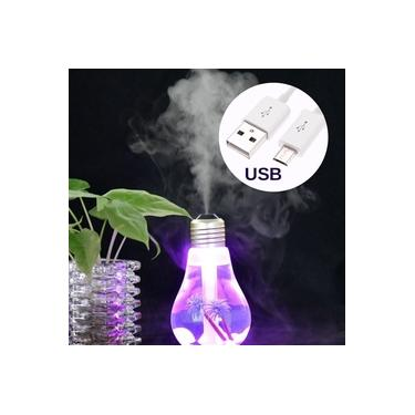 Umidificador Difusor Ar Ultrassonico Lampada LED Aromatizador USB