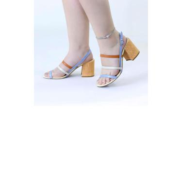 Sandália Tiras Coloridas Le scarpe di Bruna  feminino