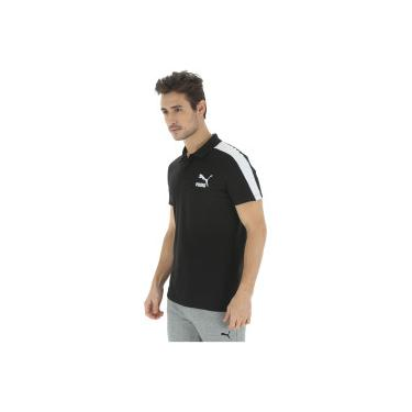85a970d4fc Camisa Polo Puma Archive T7 - Masculina - PRETO Puma