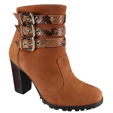ace5ad2883 Bota Ankle Boot Cravo e Canela