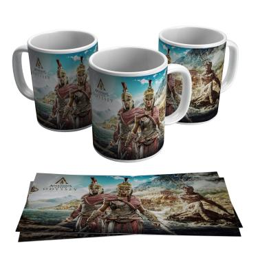 Caneca Assassins Creeds Odyssey Vídeo Game Jogo Gamer Geek