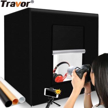 Imagem de Travor-estúdio de fotografia lightbox, 60 cm, 48w, tenda para foto, luz de mesa, softbox com 3