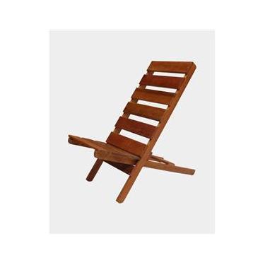 Cadeira Dobrável para Praia e Jardim Madeira Maciça de Alta Resistência