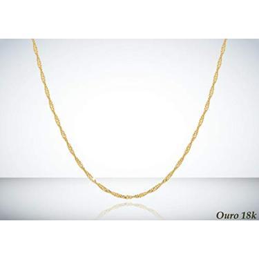 Corrente Cordão Ouro 18k 750 Singapura 40cm