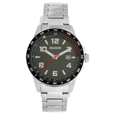d5ad0b5c07b Relógio Masculino Magnum Analógico Ma34825t - Prata