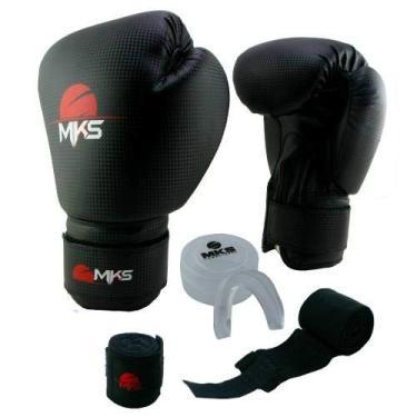 e9ddd2c9c850a Luva Muay Thai Kickboxing Prospect Mks Combat Preto 10 Oz