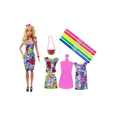 Barbie Pintando Seu Estilo Ggt44 - Mattel + Crayola