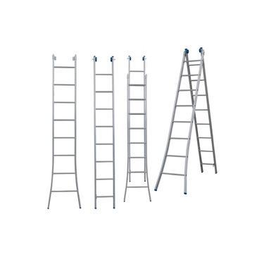 Imagem de Escada Extensiva 3 Em 1 Em Alumínio 2 X 8 - 16 Degraus