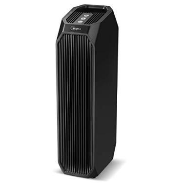 Purificador de Ar HEPA com Filtro de Carvão Ativado e LED UV para Alergias, Pólen, Animais de estimação, Odores, Fumaça, Pó, Preto, 110V, Midea, Air Purifier