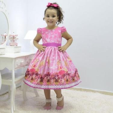 Imagem de Vestido Infantil Rosa Tema Barbie Princesa - Moderna Meninas