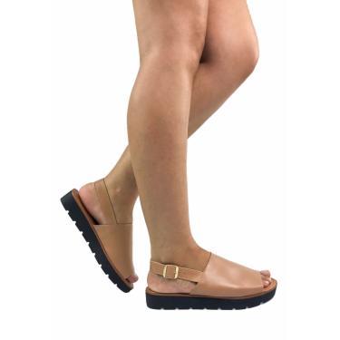 Sandália Rasteira Gigil Flatform Nude  feminino