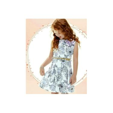 Vestido Infantil Cata-Vento Floral Lilás