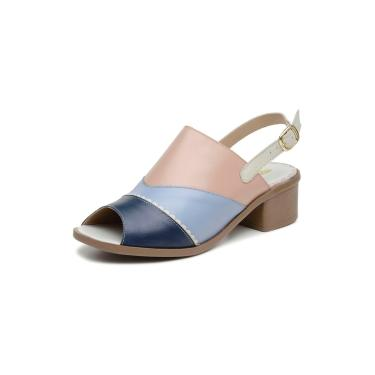 Sandalia Comfort Miuzzi Ref 2806 Indigo - Off White - Azul Bebe - Rose  feminino