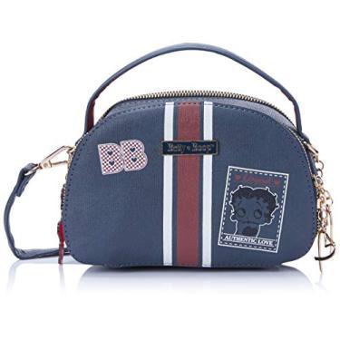 Bolsa Transversal P Betty Boop, Azul, Feminino