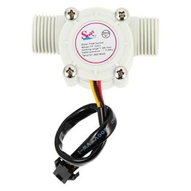 ULTECHNOVO Interruptor Do Sensor de Controle de Fluxo de Água Efeito Hall Fluxo de Água Sensor Medidor de Vazão Contador para a Bomba de Reforço Aquecedor Solar de Circulação de Água Branca