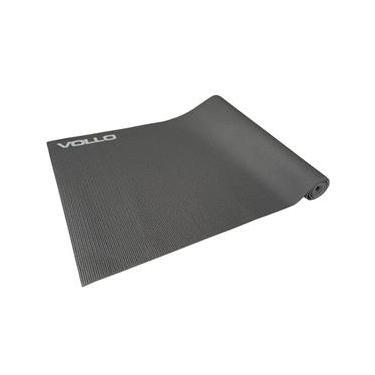 Colchonete para Yoga Vollo Sports Antiderrapante- Cinza