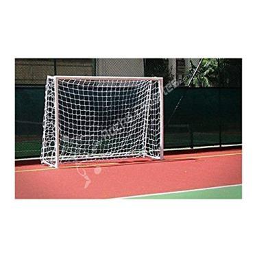Par de Rede de Futsal Oficial Fio 4 Reforçado na cor Branca - Matrix