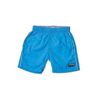 Shorts Infantil Tactel Masculino Turquesa Toffee - Nº06