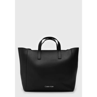 Bolsa Calvin Klein Logo Preta Calvin Klein K60K605041 feminino