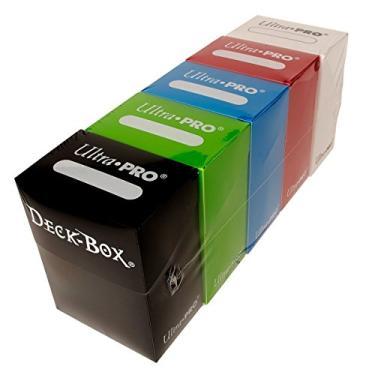 Imagem de Ultra Pro Magic/Pokemon/YuGiOh Cards Deck Boxes, Set of 5 (Red, Blue, Green, Black and White))
