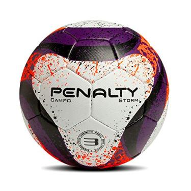 56fc42a4f3 Bola Campo Storm CC Mao VII N3 Penalty - Branco Roxo Laranja