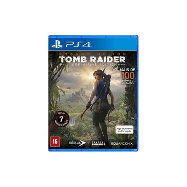 Game Shadow of the Tomb Raider Definitive Edition - PS4 - dublado em português