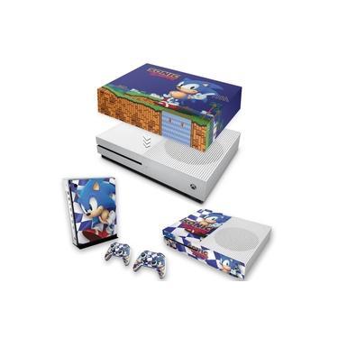 Capa Anti Poeira e Skin para Xbox One S Slim - Sonic The Hedgehog