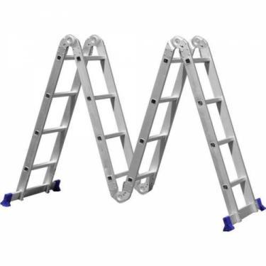 Escada Articulada 16 Degraus 4x4 Multifuncional  Mor