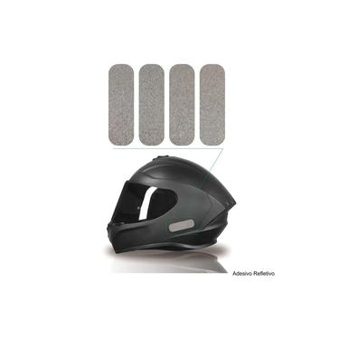 Kit Adesivo Capacete Refletivo Moto Axxis Ls2 Agv Ebf Prata