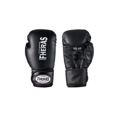 Luva De Boxe Muay Thai Mma 16Oz Preta Fheras
