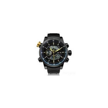 f23b3731de2 Relógio Masculino Weide Anadigi Esporte Amarelo Wh-3401