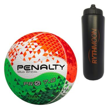 7faf1b3432 Kit Bola de Vôlei Pro 7.0 Pro VIII Penalty + Squeeze Automático 1lt