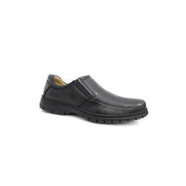 Sapato Couro C/amortecedor 7902 - Anatomic Gel (4) - Preto