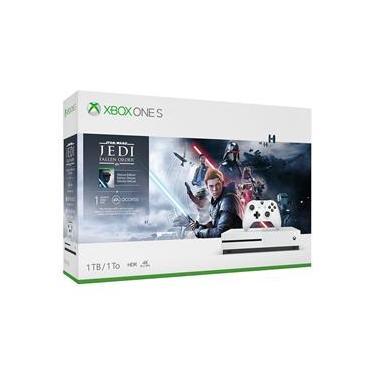 Console Microsoft Xbox One S 1TB Star Wars, 1 Mês de Xbox Live Gold + 1 Mês de EA Access, 1 Controle