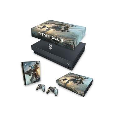 Capa Anti Poeira e Skin para Xbox One X - Titanfall 2