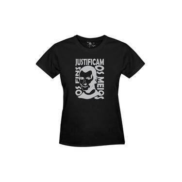 Camiseta Nicolau Maquiavel Estampa Prata – Femini
