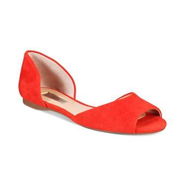 Sapatilha feminina INC International Concepts Elsah d'Orsay Peep-Toe, Spring Red, Medium