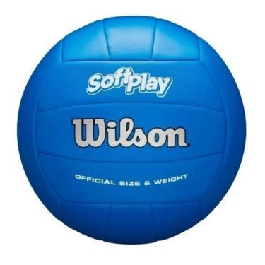 Bola de Vôlei Soft Play (Azul) - Wilson