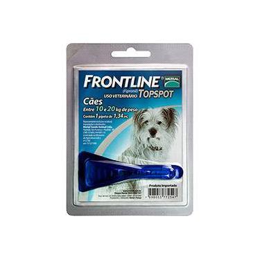 Medicamento Antipulgas e Carrapatos p/ cães10kg a 20kg - Frontline Top